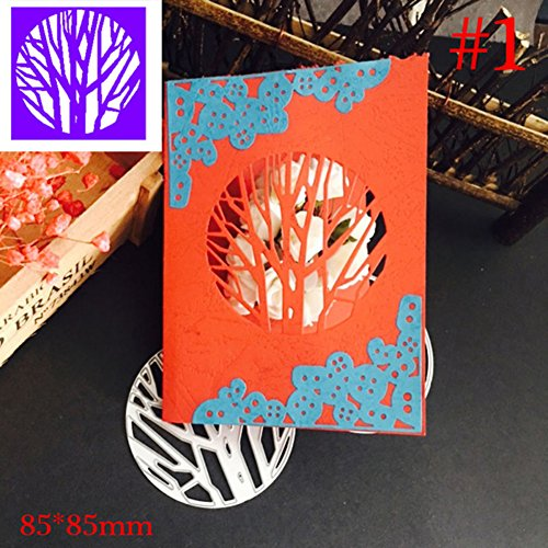 gainvictorlf Halloween Supplies Christmas Branches Corner Metal Cutting Die Stencils for Scrapbooking DIY Crafts - #1
