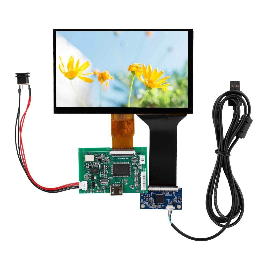 7inch LCD TFT Display 800480/1024600 HDMI VGA Monitor Screen Kit for Raspberry Pi 3 (800480) by Acogedor