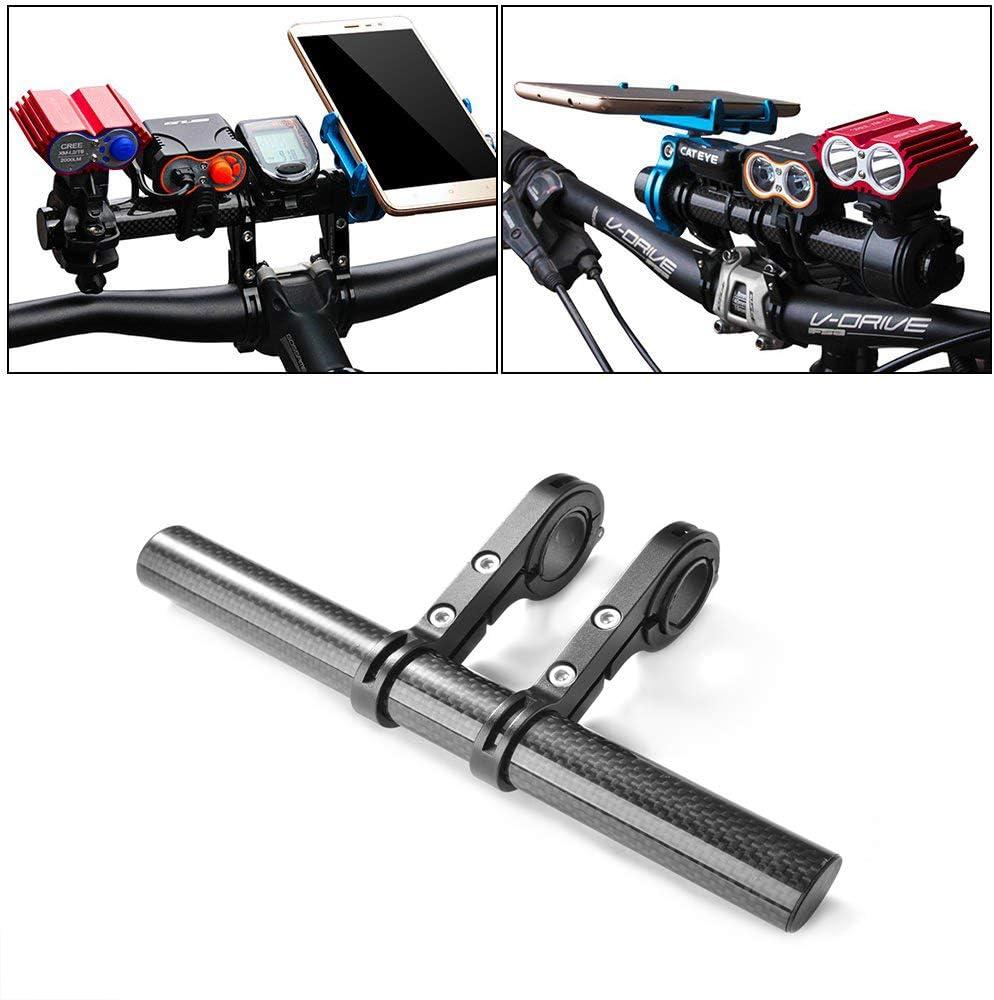 Details about  /Bicycle MTB Handle Bar Lamp Phone Extender Mount Extension Bracket Holder US