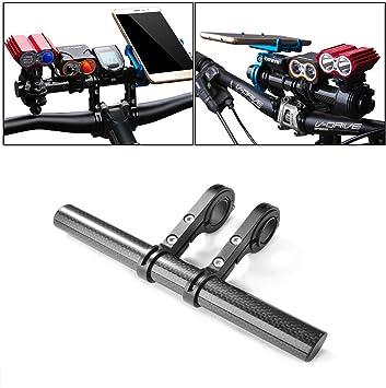 Details about  /Carbon Fiber Bike Handlebar Extender Light Phone Bracket Holder Components