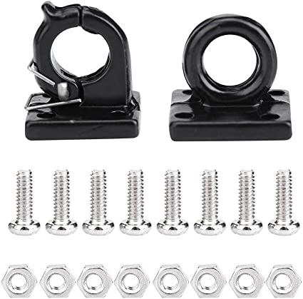 car 2pcs metal winch hooks with screws for Rock crawler 1//10 rc D90 D110 TF2..