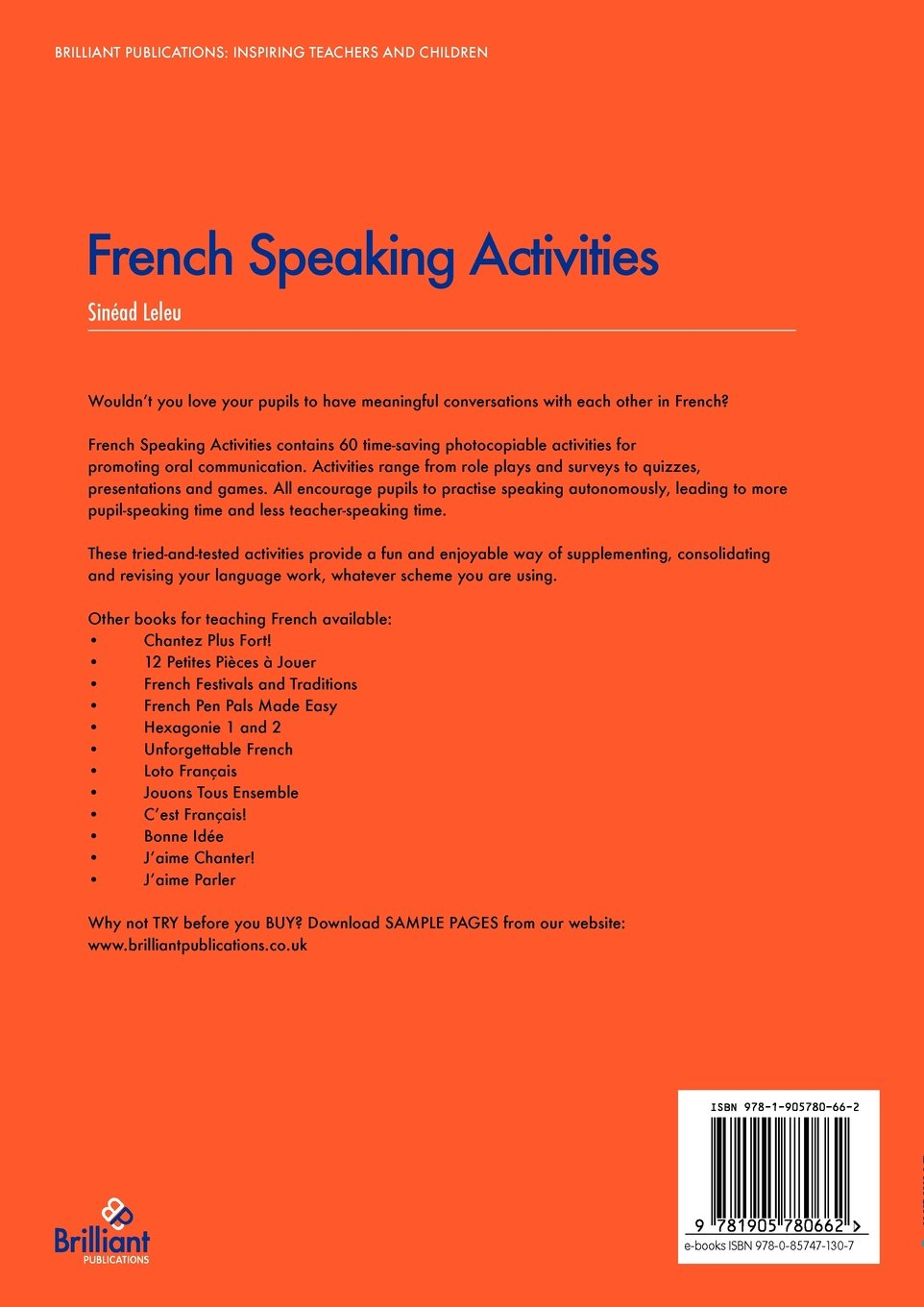 Buy French Speaking Activities Fun Ways To Get Ks2 Pupils