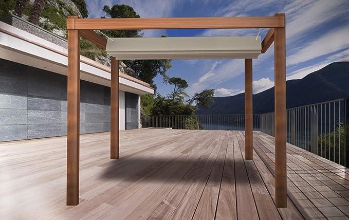 SunShade. Toldo retráctil resistente al agua, tamaño: 2,5 x 3 m, color blanco