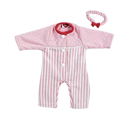 da8f9e31f342 Adora Playtime Baby Doll Pink Stripe Sleeper Outfit  Amazon.in  Toys ...