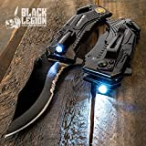 Black Legion Special Force Pocket Knife with LED Flashlight For Sale