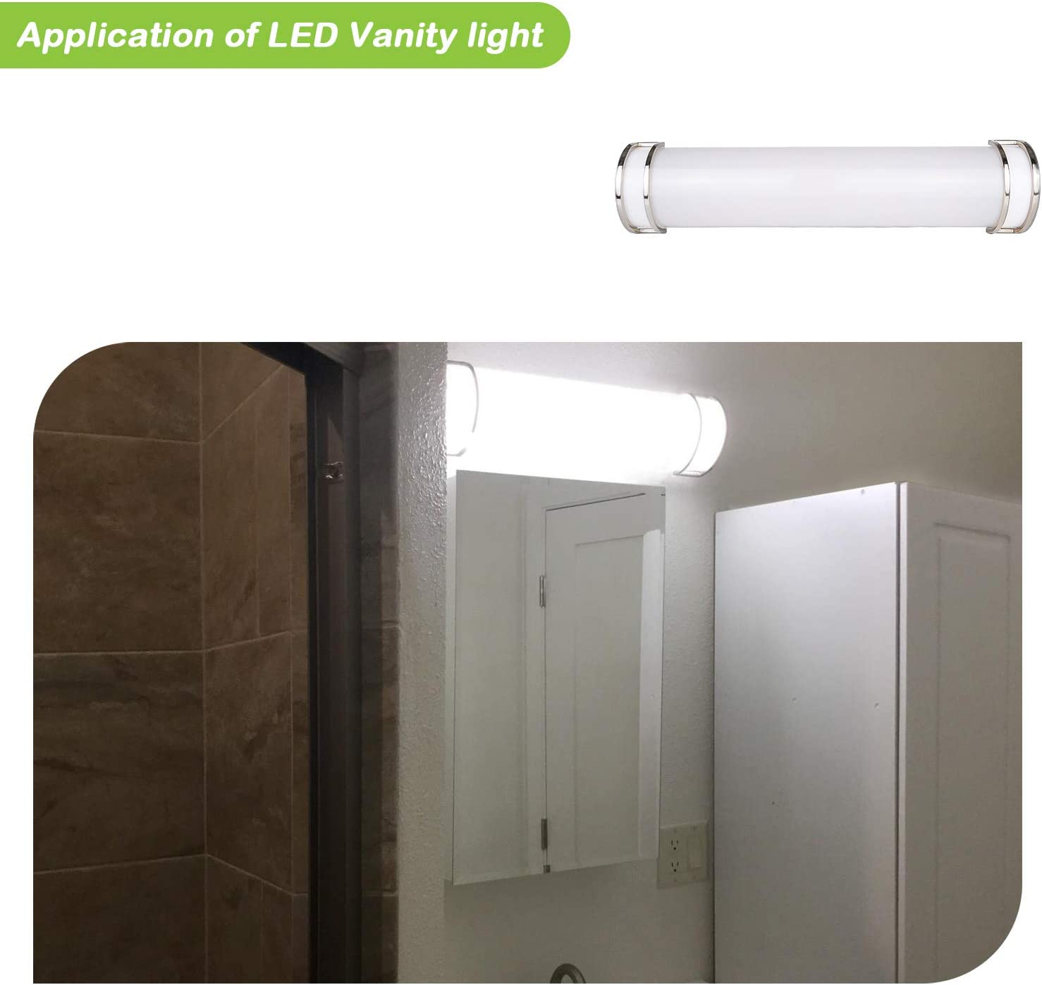 LED Vanity Light, Dimmable Bathroom