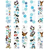 "100 Winter Sticker Sheets ~ 8 to 14 Stickers Per Sheets ~ Sticker Size: 1/2"" - 1 3/8"" X 1/2"" - 1 3/4"" ~ New ~ Christmas Stocking Stuffer"