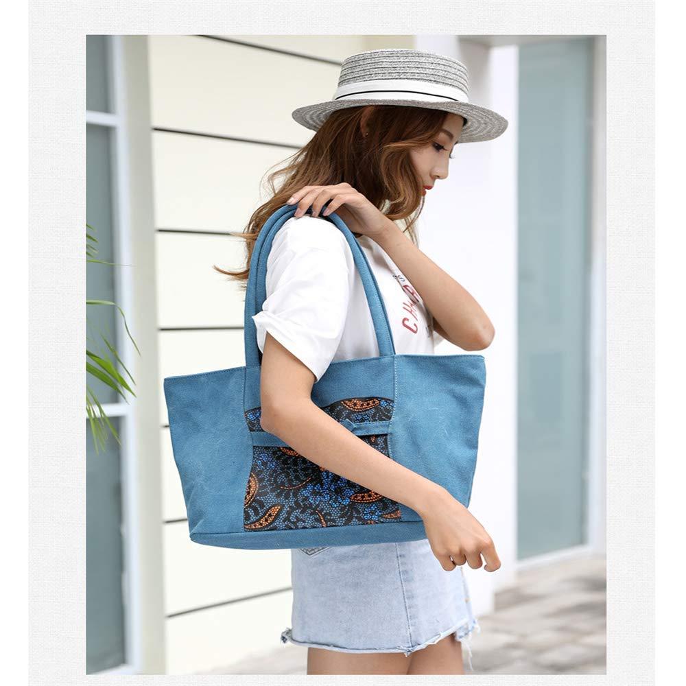 Csqw Broderi axelväska axelväska axelväska handväska kanvas horisontell fyrkantig typ kvinnors axelväska b