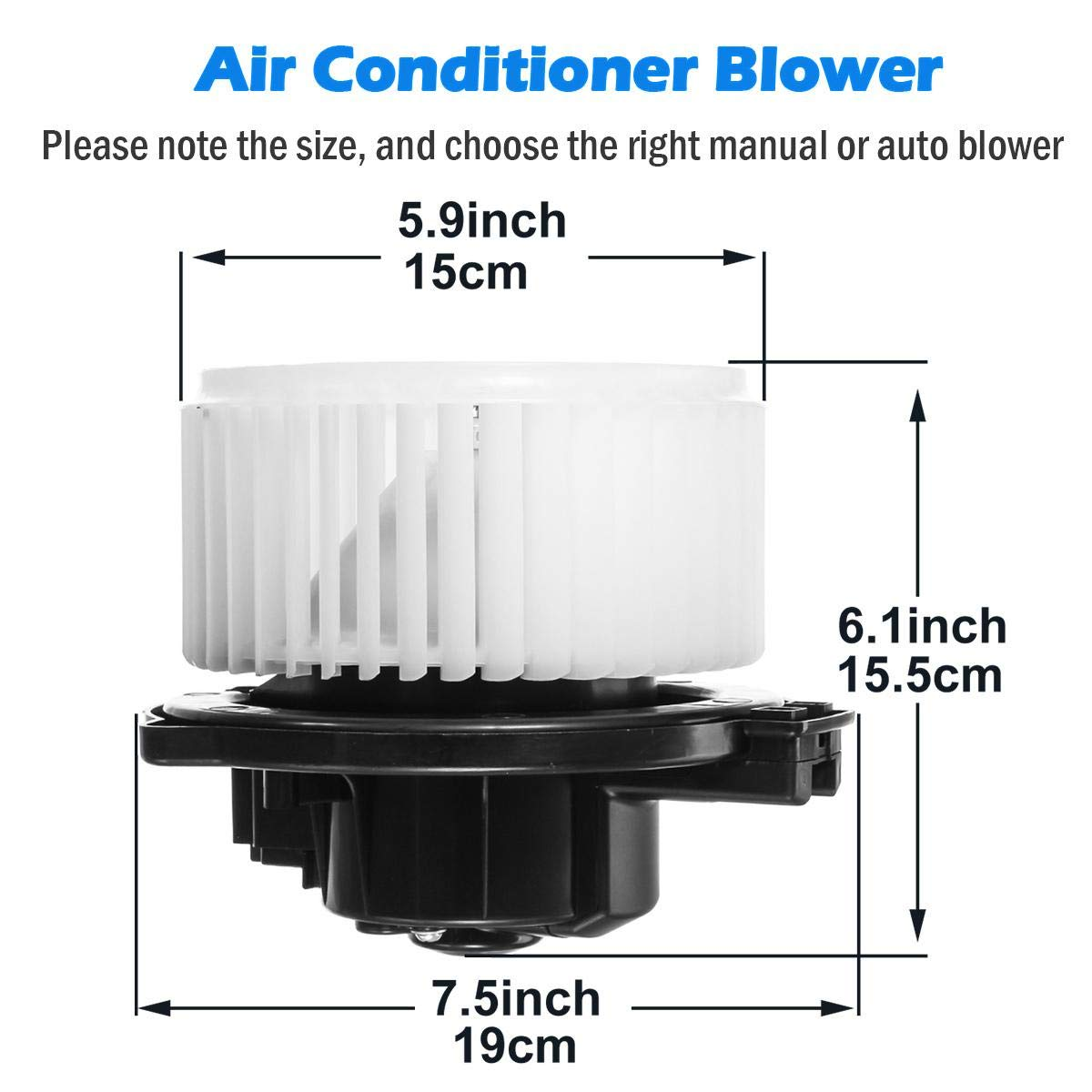 AUTEX HVAC Blower Motor Assembly 700002 Compatible with Acura Mdx ...