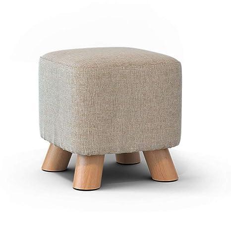Surprising Amazon Com Ottoman Round Stool Small Solid Wood Stool Beatyapartments Chair Design Images Beatyapartmentscom