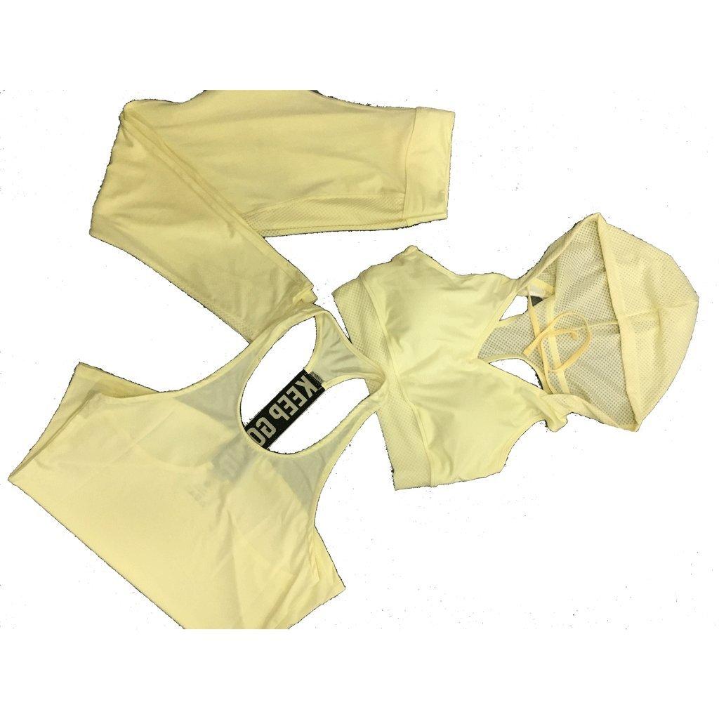 RXL-Fitnessbekleidung Sommer Workout Kleidung ärmellos Schnell trocknend Atmungsaktive Yoga Kleidung Laufbekleidung Outdoor-Sport dreiteilig (Farbe : A, größe : M)