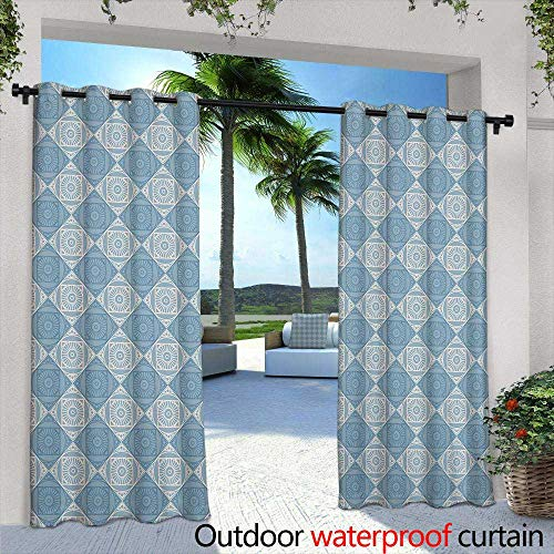 Lightly Patio Curtains,Seamless Pattern with Hand Painted Watercolor Cactus Plants and Purple flowersPastel Colors,Perfect for Your Project,Wedding,Greeting ()