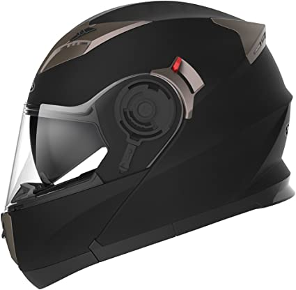 Westt/® Torque X /· Casco Moto Modular con Doble Visera para Ciclomotor Motocicleta y Scooter /· Cascos de Moto Modulares Mujer y Hombre en Negro Mate /· ECE Homologado