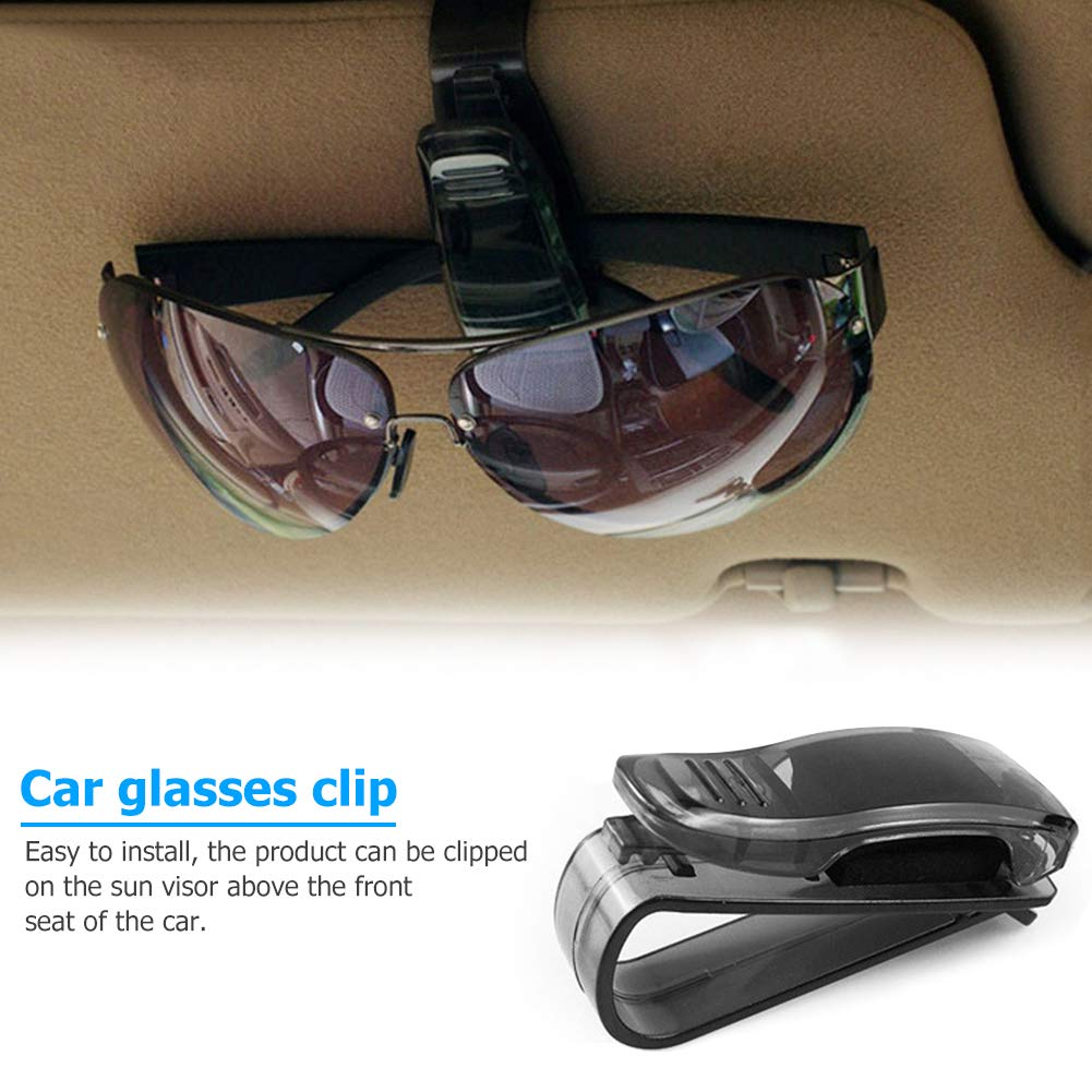 Ahomi Occhiali Supporto Auto Fissaggio Clip ABS Car Vehicle Sun Visor Sunglasses Eyeglasses Holder