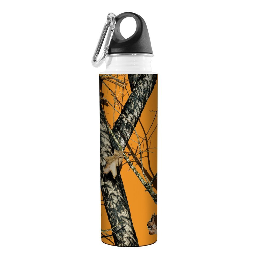 18-Ounce Tree Free Tree-Free Greetings VB48970 Artful Traveler Stainless Water Bottle Blaze Mossy Oak Camo