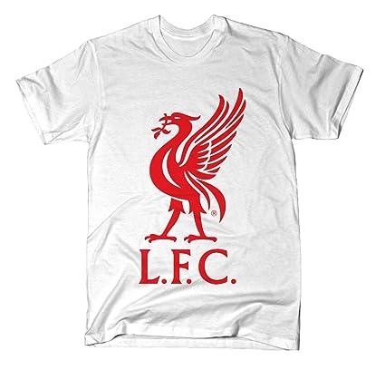 58125caa16a Amazon.com : Liverpool FC White Liverbird T-Shirt : Sports & Outdoors