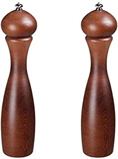 product image for Fletchers' Mill Marsala Collection Salt & Pepper Mill, Walnut Stain - 12 Inch, Adjustable Coarseness Fine to Coarse, MADE IN U.S.A.