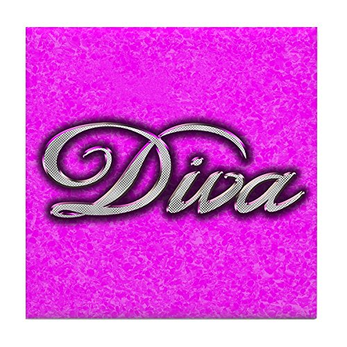 (Tile Coaster (Set 4) Pink Diva Princess )