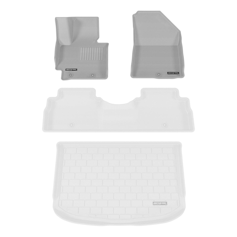 Aries KA02011501 Gray Front 3D Floor Liner 2 Piece