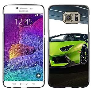 Stuss Case / Funda Carcasa protectora - SEXY VERDE LIMA LAMBO AVENTADOR - Samsung Galaxy S6