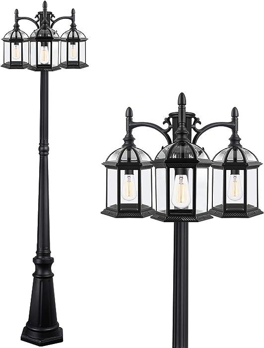 Top 10 Outdoor Post Lamp Pole Driveway Lighting Garden