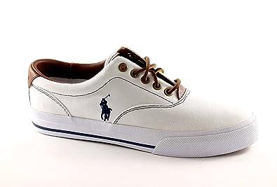 styles divers conception de la variété économies fantastiques POLO RALPH LAUREN VAUGHN Les chaussures blanches baskets ...