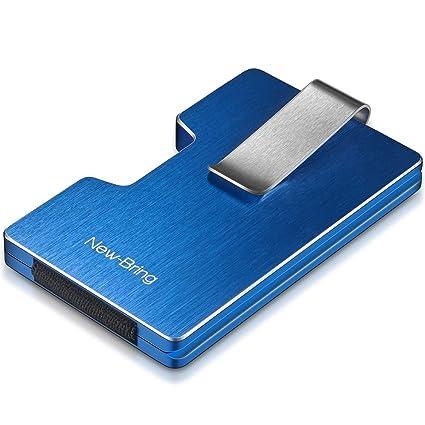 3b175031e New-Bring cartera de aluminio RFID Blocking Billetera Money Clip Wallet para  Hombres y Mujeres