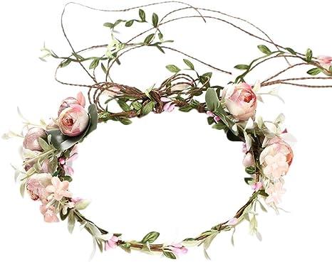 Blumenkrone Girlande Haarband Haarkranz Boho Haarschmuck Blumenkranz