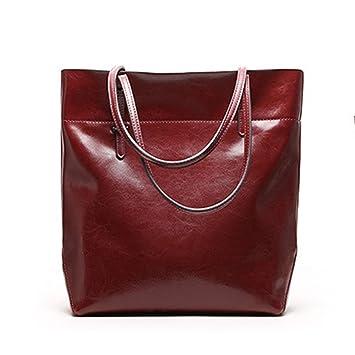 289f75fc4dd91 Mufly Damen Vintage Handtasche Echtes Leder Schultertasche klein Shopper  Taschen Burgund Henkeltasche
