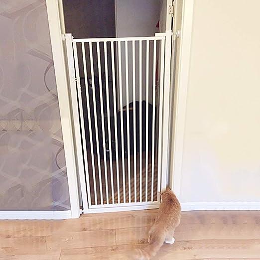 Barrera Seguridad Gatos/Puerta para Mascotas para Perros (Súper Alto 120 Cm) - Extra Ancho Walk Through Baby Safety Guard para Entrada De Pared/ Escalera (Color : W ...