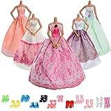 Best Mattel Kids Costumes - 12 Pairs Shoes + 5pcs Dress, Handmade Party Review