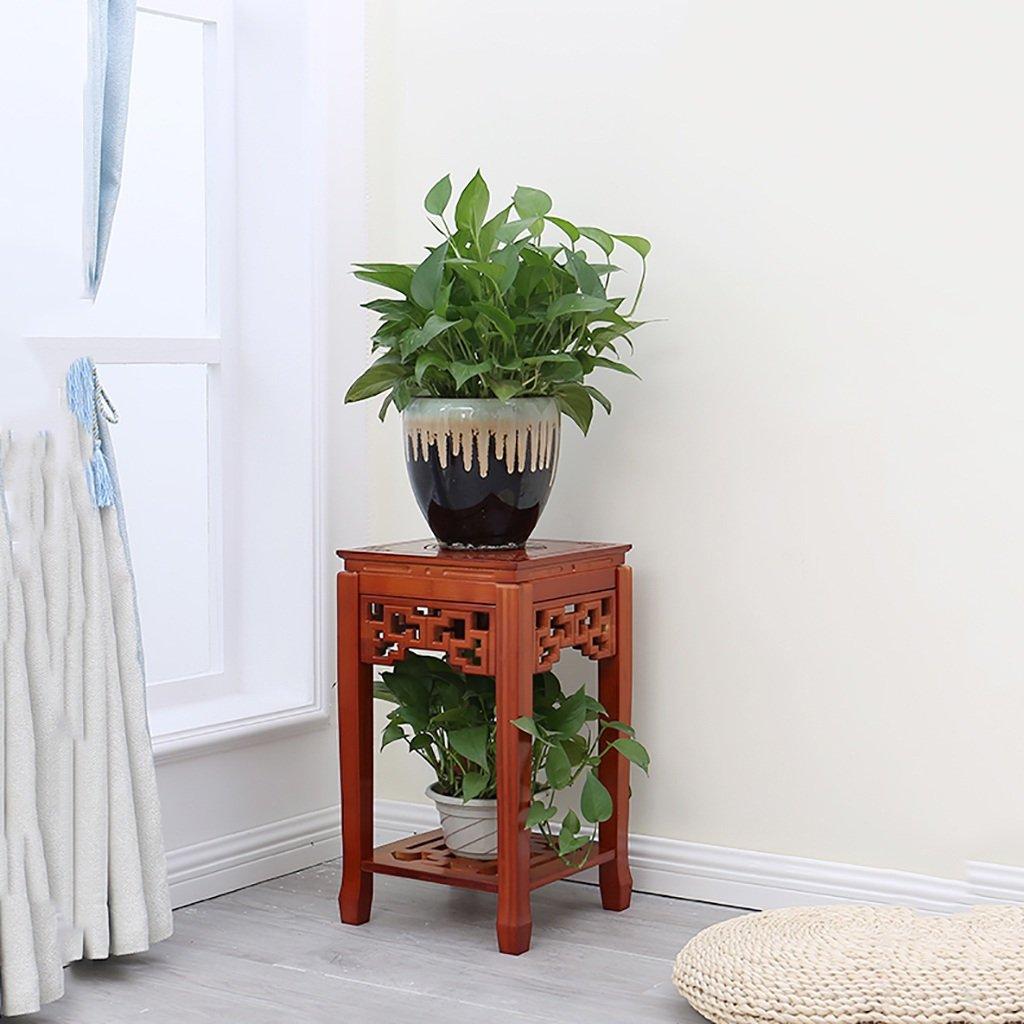 Miglior prezzo LQQGXL Supporto di bambù bambù bambù cinese del fiore, struttura antica del bonsai di legno solido del pavimento, scaffale decorativo del vaso dei bonsai. Stand di fiori (colore   Marronee, dimensioni   S.)  benvenuto a comprare