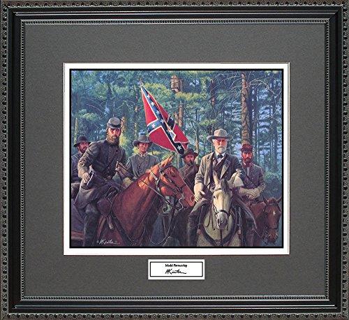 Mort Kunstler MODEL PARTNERSHIP Framed Wall Art Civil War Print, 18x16 - Civil Paintings War