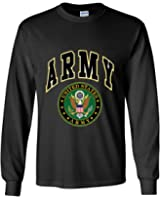 United States Army Long Sleeve T-Shirt Army Crest Patriotic