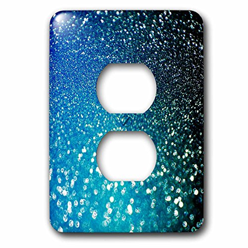 3dRose (lsp_266823_6) 2 Plug Outlet Cover (6) 2 Sparkling Ocean Blue Luxury Elegant Mermaid Glitter Effect Art Print by 3dRose