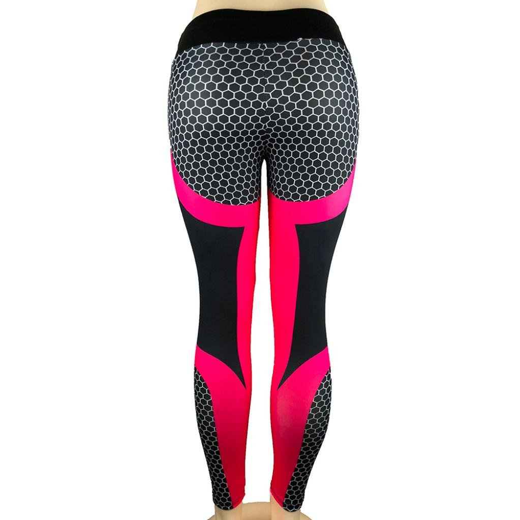 Sport Fitness a Vita Alta Coste Allenamento Leggings-Athletic Pantalone Ode/_Joy Donna Stampa 3D Yoga Skinny Workout Gym Pantaloni Esecuzione Palestra Stretch Sport Pantaloni Pantaloni