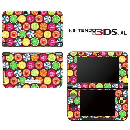 Candy Clover Strawberry Fruit Pattern Decorative Video Game Decal Cover Skin Protector for Nintendo 3DS XL by Decals Plus