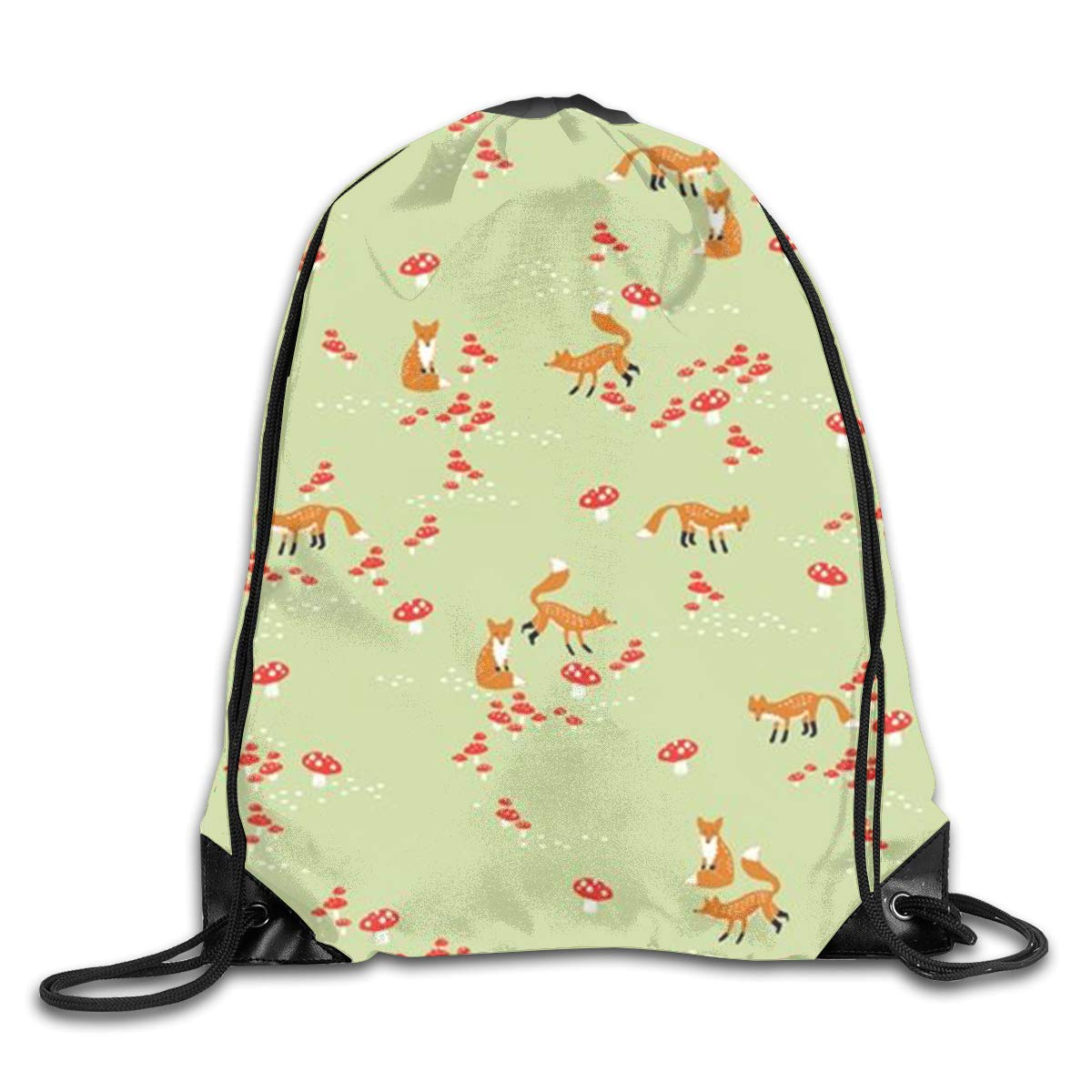 f7e87005a2 Amazon.com  Tfugpigp Mushrooms and Cute Fox Drawstring Backpacks Sport  Leisure Bundle Backpack Beam Backpack Sport Gym Travelling Bag  Home    Kitchen