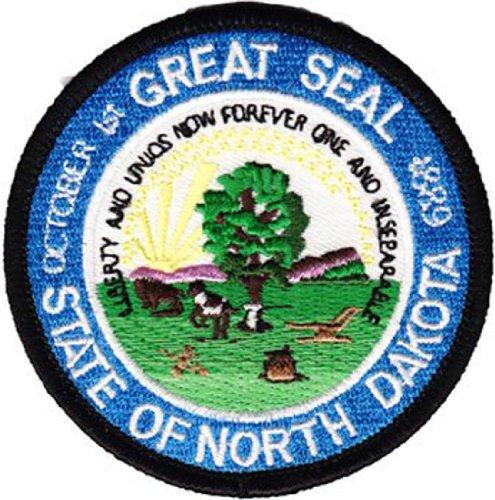 North Dakota - 3 inch Round State Seal Patch