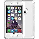 Foxpic 5,5 Zoll Wasserdichte Hülle Tasche mit IP68 zertifizierte, Staubdichte stoßfeste schnee- und schmutzfeste Schutzhülle Handyhülle für iPhone 6 plus/iPhone 6s plus(Weiß)
