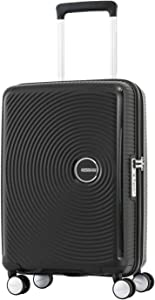 American Tourister Curio Hardside Luggage with Spinner Wheels, Black, Carry-On 20-Inch