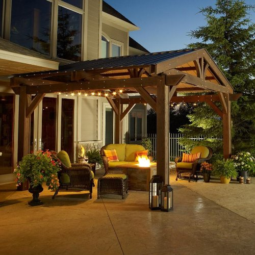 Lodge II Wood Pergola