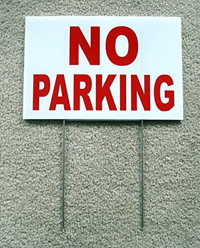 12 Tenant Doors (1-Pcs First-Rate Unique No Parking Yard Sign Warning Message Park Declare 1-Side Printed Private Disabled Post Lawn Fine Property Custom Only Reserved Stand Away Plastic Tenant Size 8