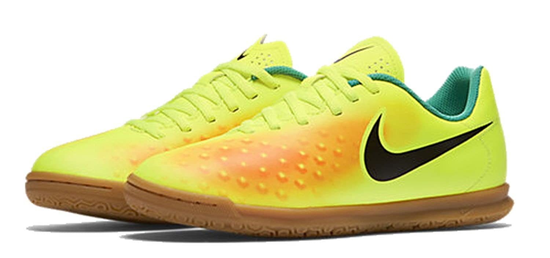 Nike Jungen JR Magista Ola II FG Fußballschuhe, Amarillo (Volt/Black-Total Orange-Clear Jade), 37.5 EU