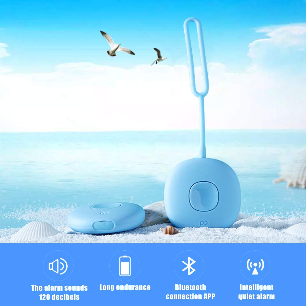 PAPASAFETY 7x24 Hours Personal Alarms Smart Safety Security Emergency Device Personal Rape Panic Alarms with Free iOS & Android app