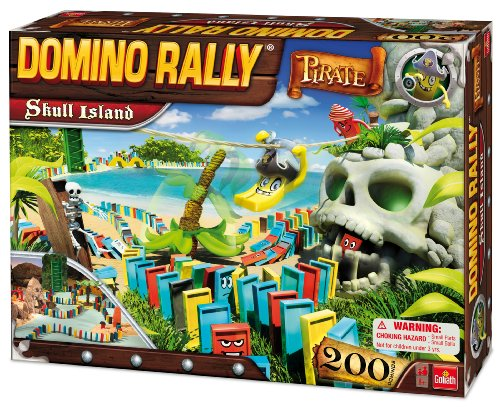 Domino Rally Pirate Skull Island by Goliath Games