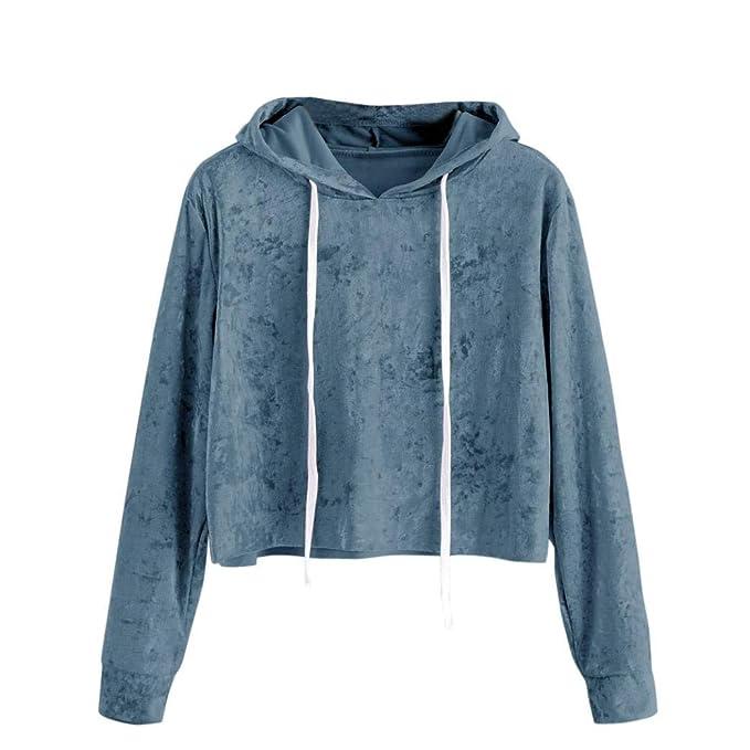 OverDose Damen Herbst-Sport-Art-Frauen-Lange Hülsen-Hoodie-Sweatshirt d9028adf64