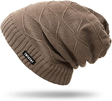 Aibrou Sombrero de Invierno Gorro Invierno Hombre Sombreros para ...