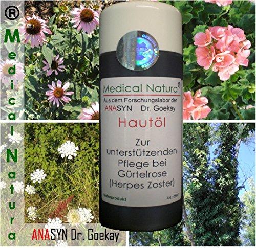 100ml Hautöl - zur unterstützenden Pflege bei Gürtelrose (Herpes Zoster). Naturprodukt.