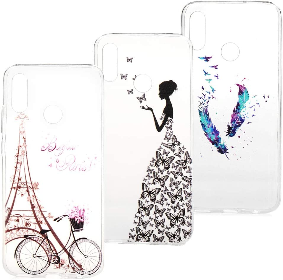 3x Funda Huawei P Smart 2019, Honor 10 Lite Case Flores Carcasa ...
